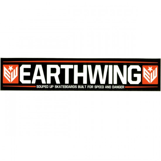 Earthwing Souped Up Sticker - Black / Orange