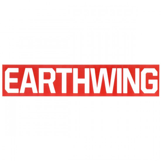 Earthwing Classic Red and White Logo Sticker