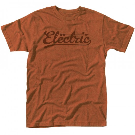 Electric Brace Custom T-Shirt - Rust