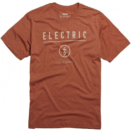 Electric Corporate Identity Custom T-Shirt - Rust