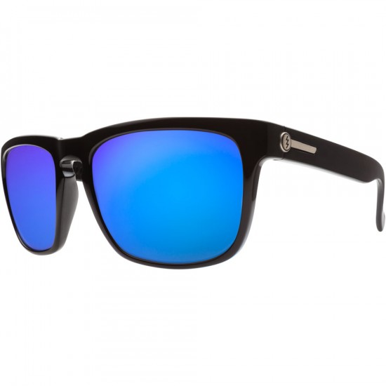 Electric Knoxville Sunglasses - Gloss Black/Grey Blue Chrome