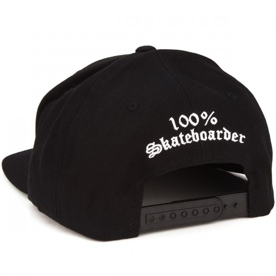 Hard Luck Skateboarder Hat - Black