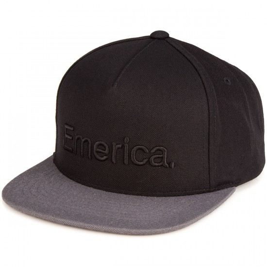 Emerica Pure Snapback Hat - Black