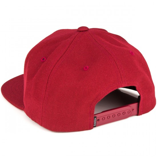 Emerica Pure Snapback Hat - Burgundy
