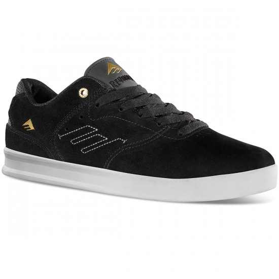 Emerica The Reynolds Low Shoes - Black/White/Gold - 13.0