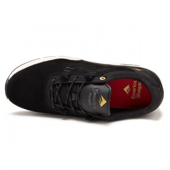 Emerica The Brandon Westgate Shoes - Black/White/Gold - 8.0