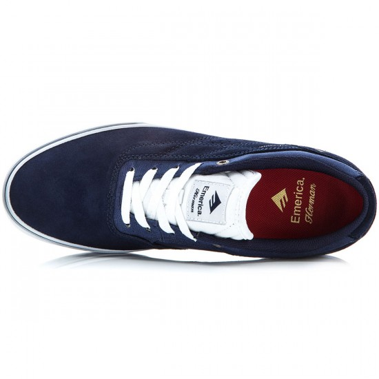 Emerica The Herman G6 Vulc Shoes - Navy/White/Gum - 8.0