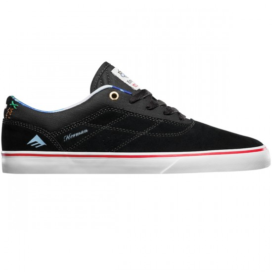 Emerica The Herman G6 Vulc X Happy Hour Shoes - Black/White - 8.0