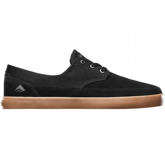 Emerica Troubadour Low Shoes - Black/Gum - 12.0