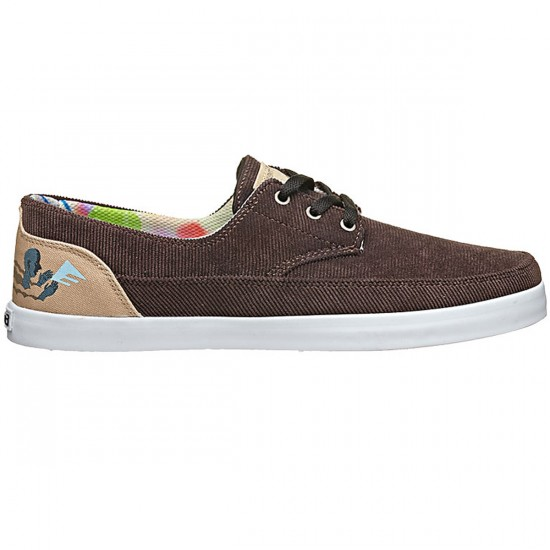 Emerica Troubadour Low X Ed Templeton Shoes - Brown/Tan - 9.0