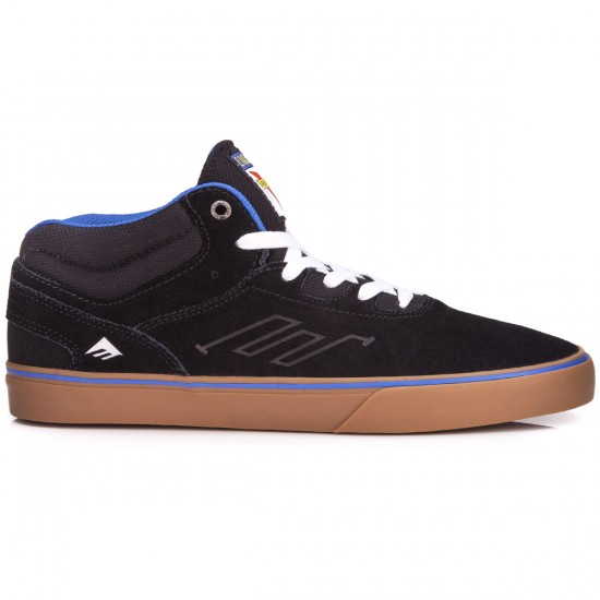 Emerica Westgate Mid Vulc X Venture Shoes - Black/Blue - 10.0