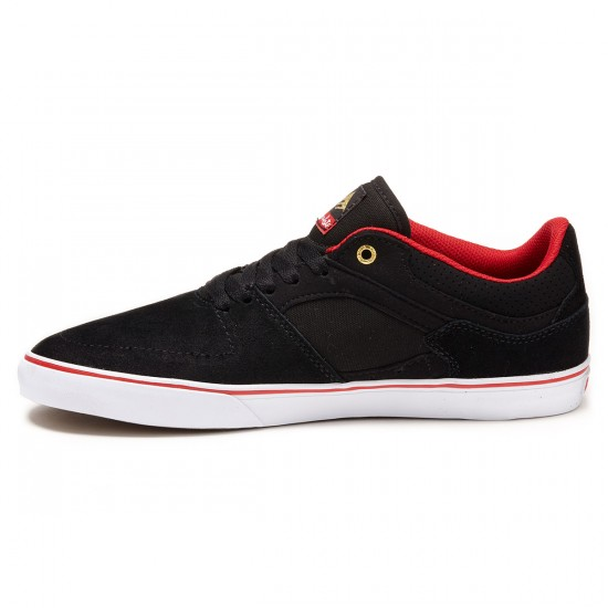 Emerica X Chocolate The Hsu Low Vulc Shoes - Black/Red/White - 8.0