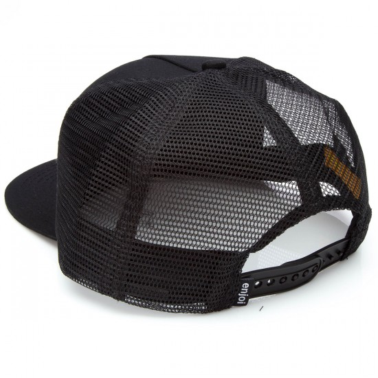 Enjoi Neon Rasta Panda Trucker Hat - Black