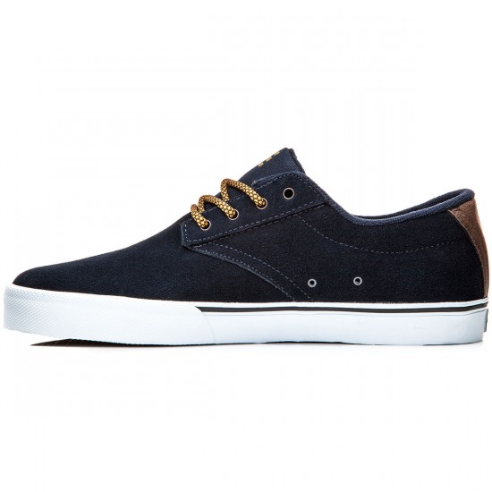 Etnies Jameson Vulc Shoes - Navy/Brown/White - 8.0