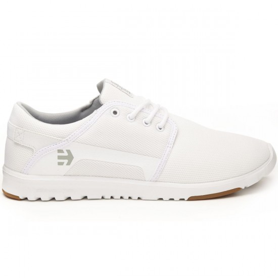 Etnies Scout Shoes - White/Gum - 8.0