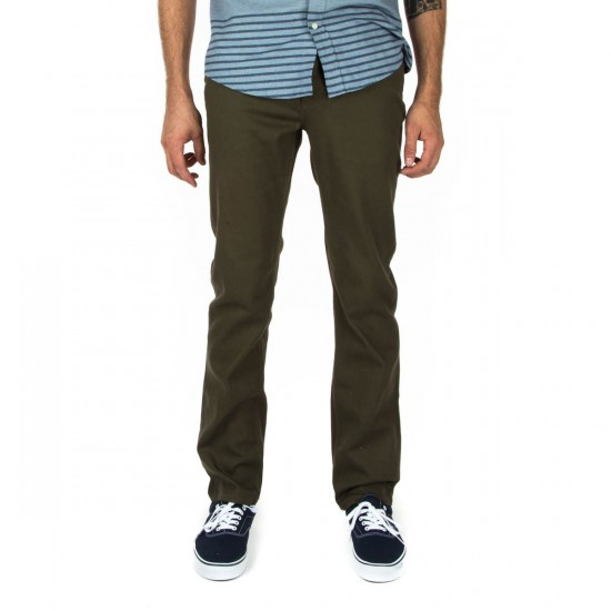 Fourstar Malto Twill Straight Slim Pants - Canteen - 28 - 32