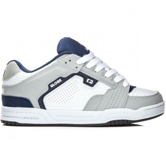 Globe Scribe Shoes - Grey/White/Navy - 8.0
