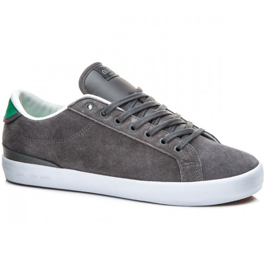 Globe Status Shoes - Charcoal/Green - 8.0