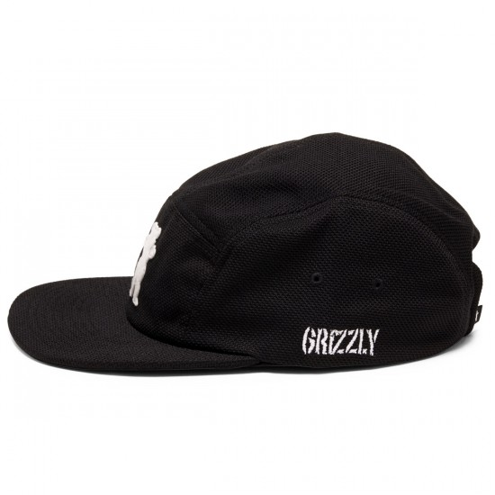 Grizzly Grip BRB Grizzly OG Bear Pique 5 Panel Hat - Black