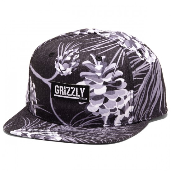 Grizzly Grip Summer Crop Snapback Hat - Black