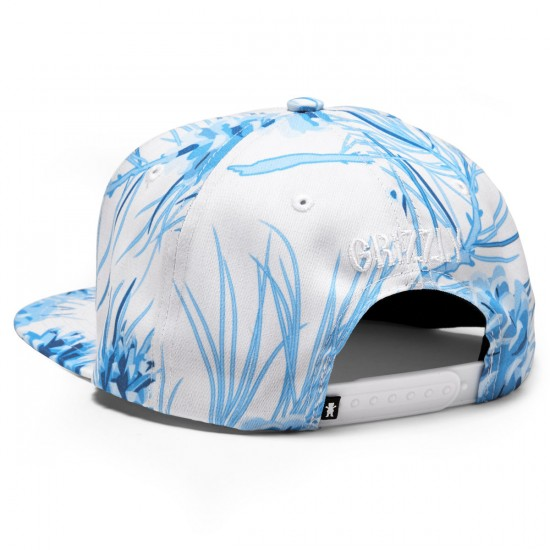 Grizzly Grip Summer Crop Snapback Hat - Blue