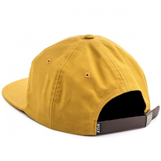 HUF British Millerain 6 Panel Hat - Mustard