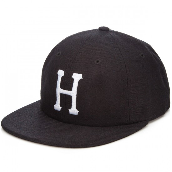 HUF Classic H 6 Panel Hat - Black