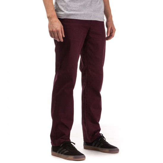 HUF Fulton Chino Pants - Burgundy - 28 - 32