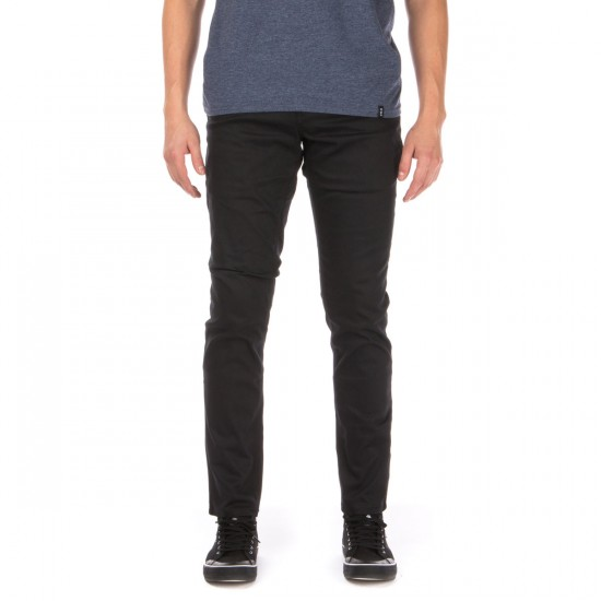 HUF Fulton Chino Slim Pants - Black - 38 - 32