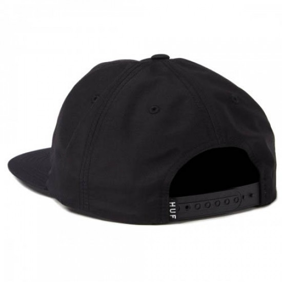 Huf Triple Triangle Unstructured Snapback Hat - Black