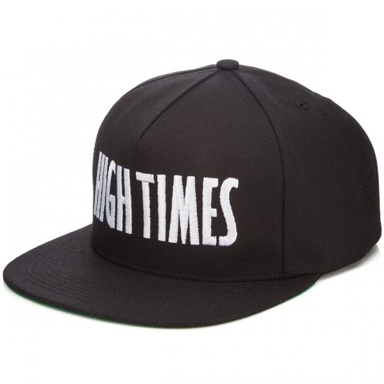 HUF X High Times Embroidered Snapback Hat - Black