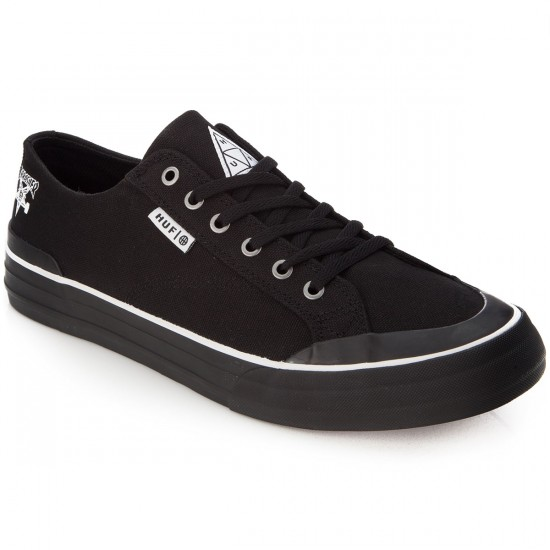 HUF X Thrasher Classic Lo Shoes - Black Canvas - 5.0
