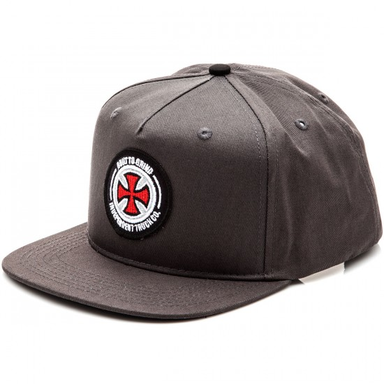 Independent BTG Patch Adjustable Twill Hat - Charcoal