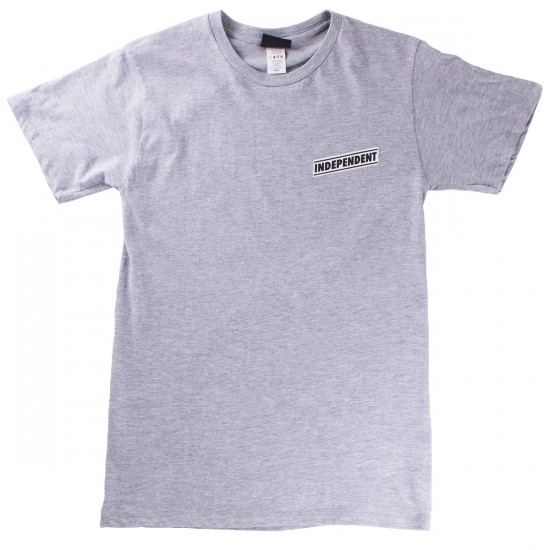 Independent Pin-Lined Cross Regular T-Shirt - Athletic Heather