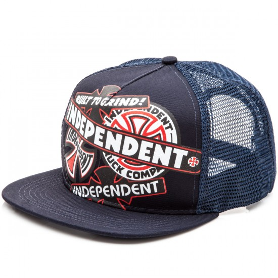 Independent Sticker Pack Trucker Mesh Hat - Carbon