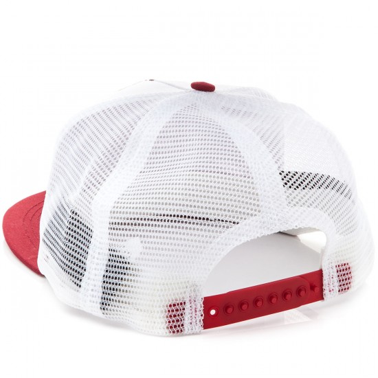 Independent Sticker Pack Trucker Mesh Hat - White/Red