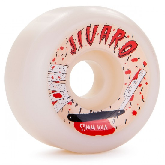 Jivaro El Corte Skateboard Wheels 53mm 101a - White