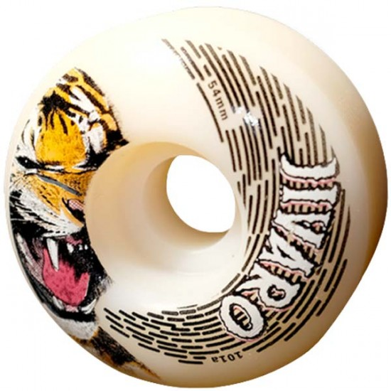 Jivaro Yantana Skateboard Wheels 54mm 101a - White