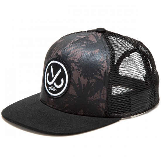 JSLV Hooks Palms Trucker Hat - Black