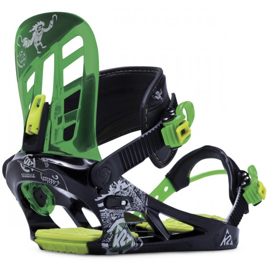 K2 Vandal Boys Snowboard Bindings 2014 - Black