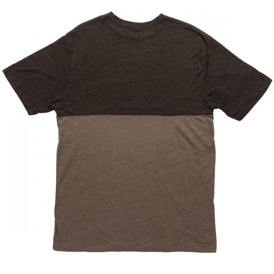 KR3W Colorblock Pocket T-Shirt - Drab Heather