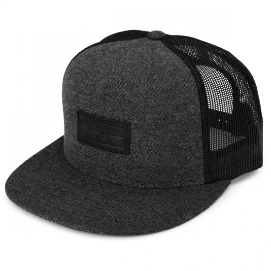 KR3W Hank 2 Trucker Hat - Black