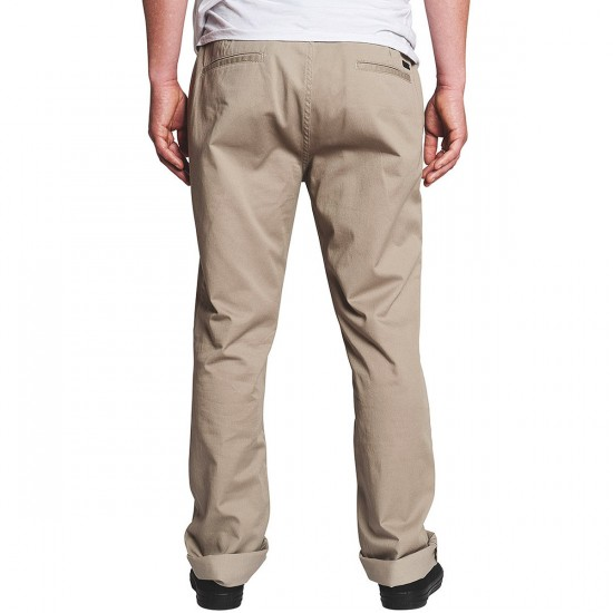 KR3W Klassic Chino Pants - Dark Khaki - 38 - 32