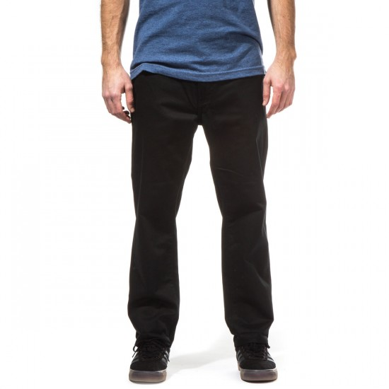 KR3W Klassic Cropped Chino Pants - Black - 28 - 32