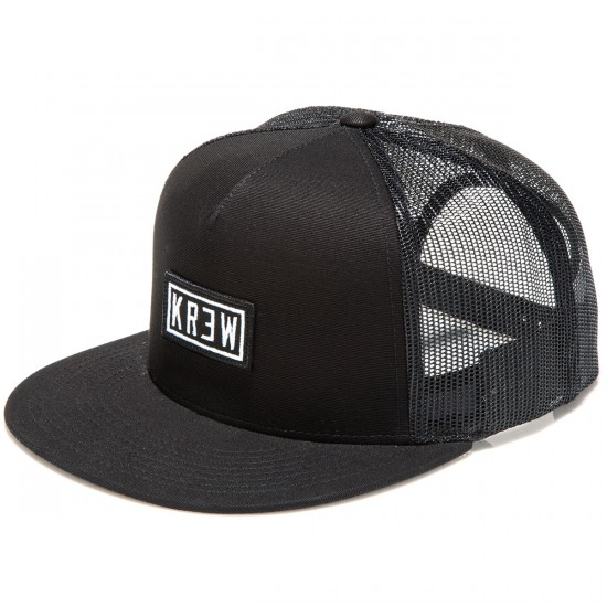 KR3W Label Trucker Hat - Black