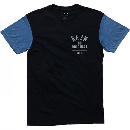 KR3W Upper Division Colorblock T-Shirt - Black Indigo Heather