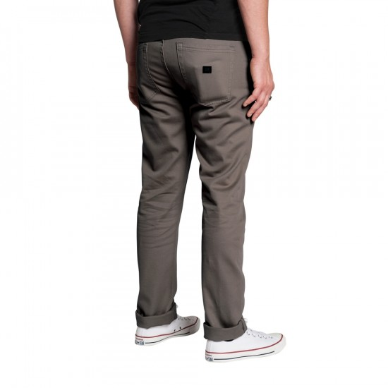KR3W K Slim 5 Pocket Jeans - Warm Grey - 38 - 32