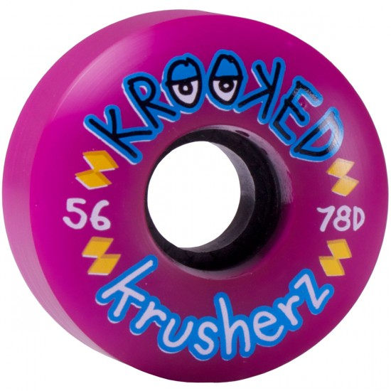 Krooked Krusherz Skateboard Wheels 56mm 78d - Purple