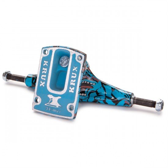 Krux Tall Screaming Skateboard Trucks - Blue