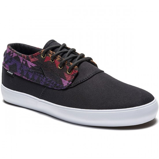 Lakai Camby Mid Oasis Shoes - Black Textile - 9.0